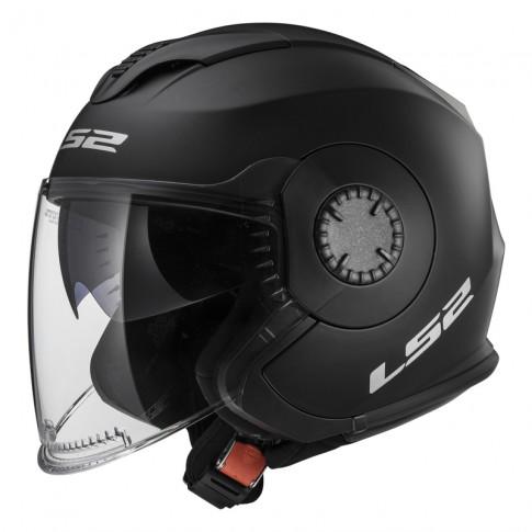 LS2 Helmet OF570 SOLID White Matt Black