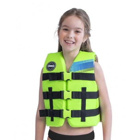 Jobe Nylon Life Vest Kids Lime Green 30-40kg